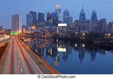 City of Philadelphia - Image of Philadelphia skyline,...