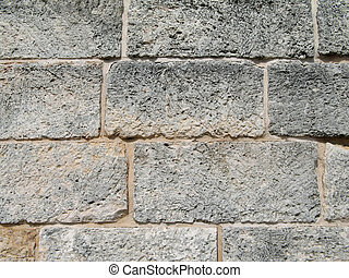 old cinder block wall part of a wall