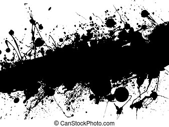 ink crash - Black and white grunge image with room to add...
