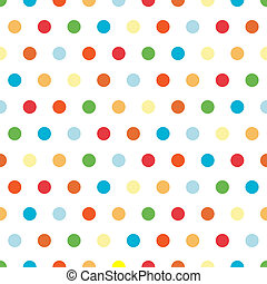 Bright Polka Dots Background - Polka Dots background pattern...