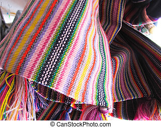 Andean ponchos, Chile - Andean ponchos in a traditional...