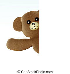 Hello Teddy - A greeting Teddy bear 3d rendered Illustration...