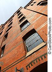 Facade in the Speicherstadt in Hamburg - Facade of a...