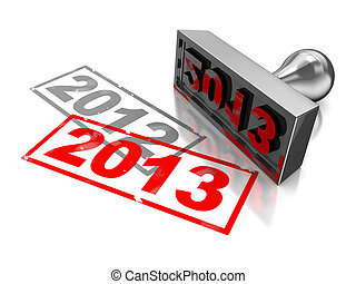 2013 new year - 3d illustration of year change concept