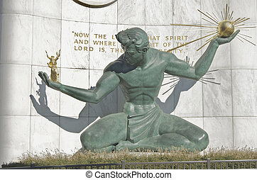 Spirit of Detroit Statue 2012 - Spirit of Detroit statue...