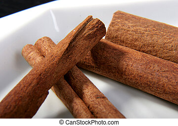cinnamon sticks for tea and coffee aromatization on the...