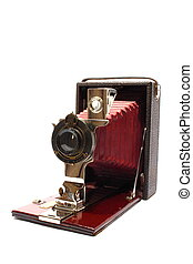 Antique Camera - Isolated antique camera that slides out...