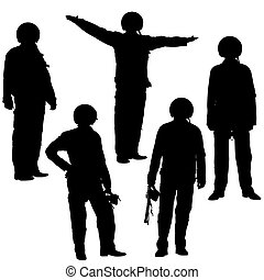 Vector illustration of military pilot silhouette. Isolated...