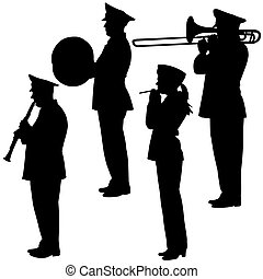 military musicians collection Vector illustrations