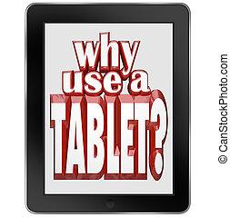 porque, uso, tabuleta, computador, móvel, notepad,...