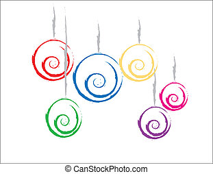 Colorful Christmas Ornaments - simple design of some...