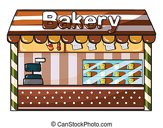 a bakery - illustration of a bakery on a white background