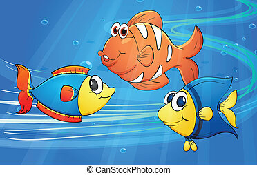 Fish - illustration of a fish underwater