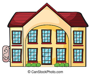 a house - illustration of a house on a white background