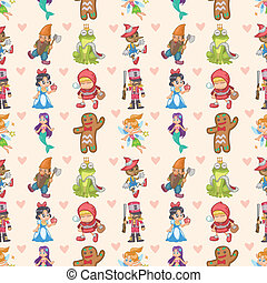 seamless story people pattern,cartoon vector illustration