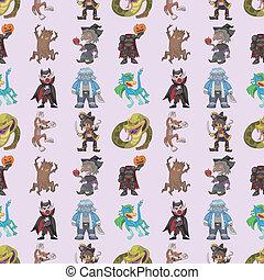 seamless story villain pattern,cartoon vector illustration
