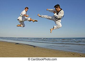 Taekwondo, playa