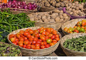 Vegetables - Many different ecological vegetables on market...