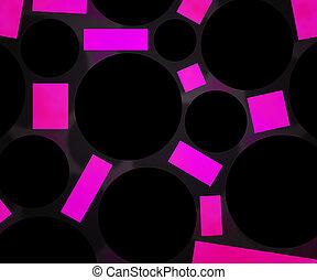 Dark Circles Violet Background
