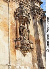 Facade ornaments of catholic monastery