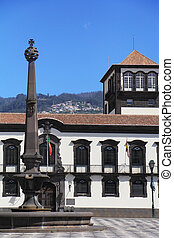 The main square in the city of Funchal. The island of...