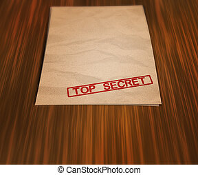 Top Secret Document on the Table