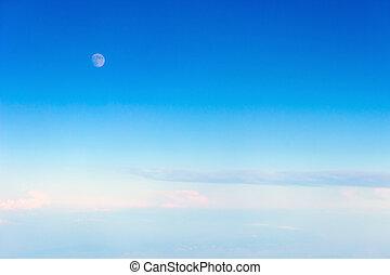 moon on blue sky