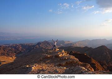 The desert Sinai and the lonely tourist
