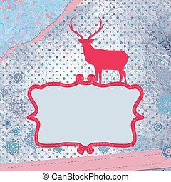 Christmas deer template card. EPS 8