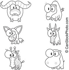 Cartoon animals - Some cartoon animals buffalo, jackal,...