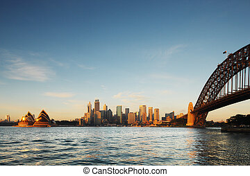 A Skyline View of Sydney Opera - A Skyline View of Sydney at...