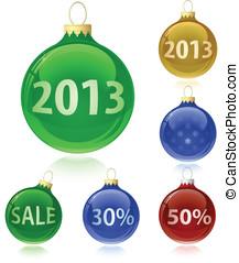 Christmas balls with sale tags - 2013