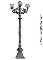 Lamppost isolated on a   white background