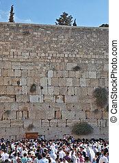 The morning prayers on Sukkot - Jerusalem - October 16: The...