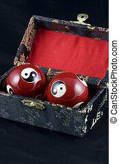 Yin and Yang Baoding Ball - Yin and Yang Baoding balls, also...