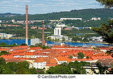 Jonkoping. Sweden - View of Jonkoping. Jonkoping...