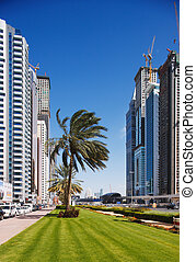 The tall towers of Sheikh Zayed Rd - The tall towers of...
