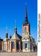 Riddarholmen Church. Stockholm, Sweden - Riddarholmen Church...