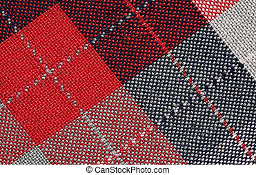 Plaid background - Fabric plaid texture. Cloth background