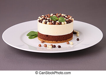 gourmet chocolate mousse cake