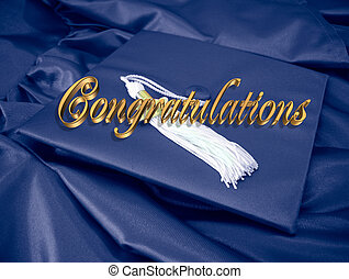 Congratulations Graduate - Image and illustrated 3D golden...