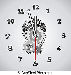 White clock. Five minutes to twelve