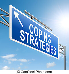 Coping strategies - Illustration depicting a roadsign with a...
