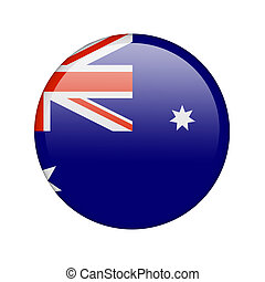 The Australian flag in the form of a glossy icon
