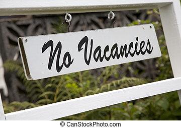 No Vacancies Sign outside Hotel