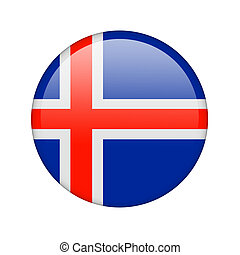 The Icelandic flag in the form of a glossy icon.