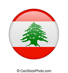 The Lebanese flag in the form of a glossy icon.