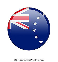 The Cook Islands flag in the form of a glossy icon.