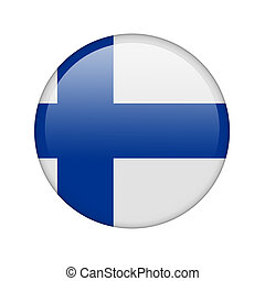 The Finnish flag in the form of a glossy icon