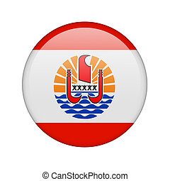 The French polynesia flag in the form of a glossy icon.